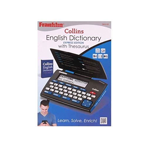Franklin dmq221Collins Dictionnaire anglais avec thésaurus