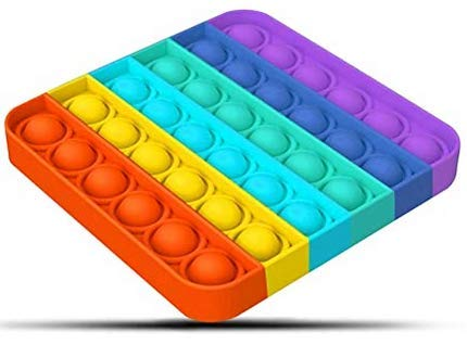 WQFXYZ Pop Push it Sensory Toys Push Sensory Toys can Relieve Stress. Special Multi Shaped Toys Suitable for All Ages Decompression Silicone Squeeze Toys Pressure Relief Toys (Square Color 1pcs)