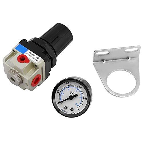 AR2000-02 Regulador de presión de aire, filtro neumático Regulador neumático G1 / 4 Valor de alivio Unidad de tratamiento de gas de fuente de aire con manómetro