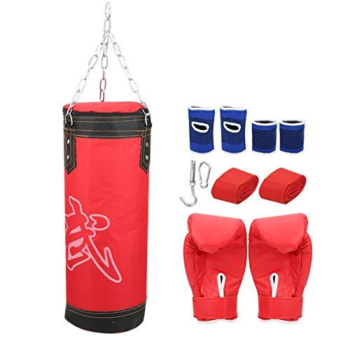 Cloudbox Sacos de Arena para niños-Niños Sanda Boxing Training Sacos de Arena Colgantes Entrenamiento de 3 Capas Fitness Striking Drop Bolsa de Arena Hueca Boxeo tailandés Taekwondo Rojo