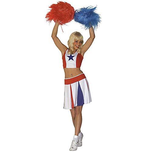 WIDMANN Cheerleader - Disfraz de animadora para mujer, talla UK 8-10 (W3499-S)