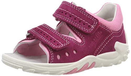 superfit Baby Mädchen Flow Sandalen, Pink (Rot/Rosa 50), 22 EU
