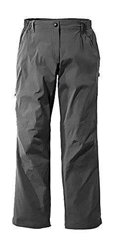 CRIVIT® Damen Trekkinghose mit Lycra®, UV-Schutz 50+, leicht gefüttert (Gr. 36, anthrazit)