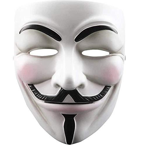 WLXW Mscara de Poliresina Disfraz de Halloween, Mscara de Resina con Tema de Pelcula para Fiesta de Halloween, Baile de Mscaras, Disfraz de Mascarada Fiesta Cosplay Regalo,V for Vendetta