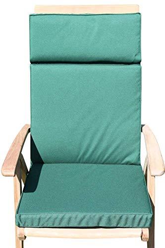 Garden Market Place Sitzkissen für Gartenmöbel für große Gartenstühle, Grün, 95 X 45 X 35