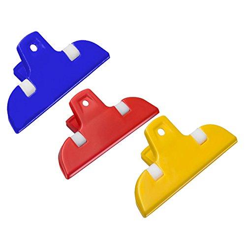 Westmark 3 kleine Beutelclips, Kunststoff, je 7 x 3,5 x 2,3 cm, Mini, Gelb/Rot/Blau, 52182230