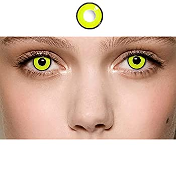 Color Contacts for Eyes Cosplay Party Makeup Party Party Toy Fashion Show Halloween Party  yellow15