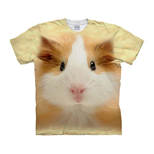 Camiseta 3D Impreso Hámster Animal Lindo Camiseta Casual De Manga Corta con Estampado De Verano Unisex