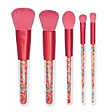 DSHHF Blush Brush Candy Makeup Brush Handle Portátil 5 Piezas Pinceles De Maquillaje Set Ceja Brush