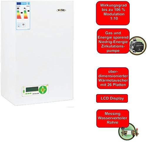 Kombitherme Gastherme Wandtherme Brennwerttherme Wasser+Heizung+Gas 25 kW