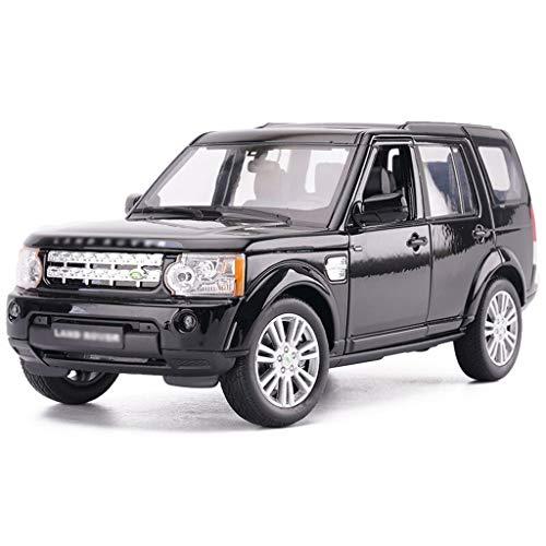JBlaite-Model car Maßstab 1: 24 Druckguss-Auto-Modell/Kompatibel mit Land Rover Discovery/Simulation Legierung Modell Auto SUV Modell (Color : Black, Size : 19.5cm*7cm*6cm)