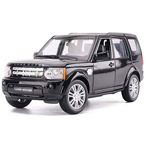 JBlaite-Model car Maßstab 1: 24 Druckguss-Auto-Modell/Kompatibel mit Land Rover Discovery/Simulation Legierung Modell Auto SUV Modell (Color : Black, Size : 19.5cm*7cm*6cm)