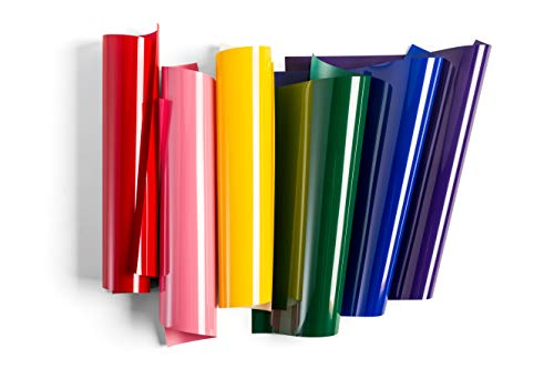 "Cricut Everyday Iron On Vinyl Sheets, 12"" x 12"" (6), DIY Supplies - Rainbow Sampler"