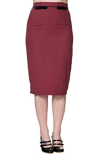 Banned Dancing Days by Crayon Rock Swept Off HER FEET Pencil Skirt 2085 - Rouge - 40