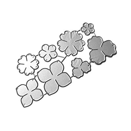 Kalttoy Blume Scrapbooking Stanzschablone Stanzen Schneiden Schablonen Stanzformen, für Sizzix Big Shot/Cricut Cuttlebug/und andere Stanzmaschine