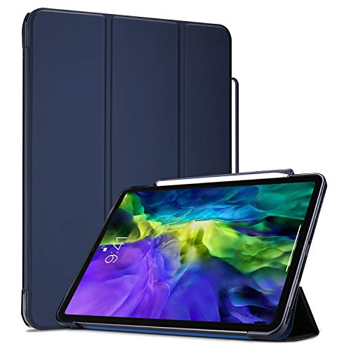 ProCase for iPad Pro 11 Inch 2020 TPU Case with Pencil Holder, Slim Cover with Soft Flexible Back for iPad 11' 2nd Generation -Navy