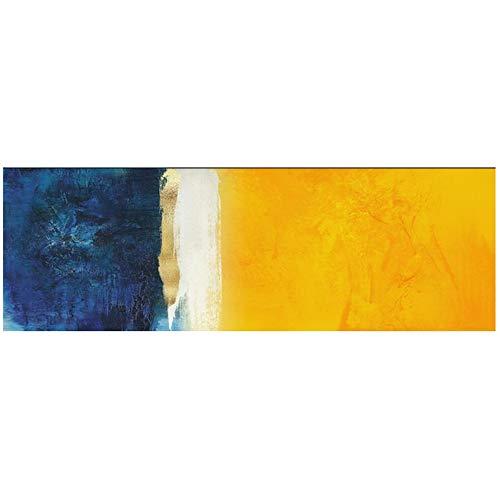 NIEMENGZHEN Druck auf Leinwand Abstrakte Leinwandbilder An Der Wand Poster Und Drucke Blauen Und Gelben Farben Graffiti Kunst Leinwandbilder Für Wohnzimmer-40x120cm Kein Rahmen