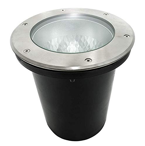 Faro calpestabile LED E27 spot 35W incasso terreno giardino IP65 230V foro 19cm