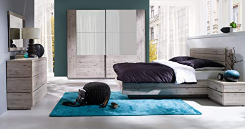 Amazon Marke - Movian Saale Großes Doppelbett, 195 x 97 x 208 cm, Wellington-Eiche Optik