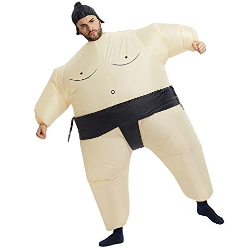 TOLOCO Inflatable Costume Adult, Inflatable Halloween Costumes for Men, Sumo Wrestler Inflatable, Sumo Costume Adult, Blow up Costumes for Adults
