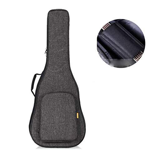 KMDSM Schulter-Thick-Gitarren-Tasche 39 Zoll 40 Zoll 41 Zoll Folk Acoustic-Gitarren-Klavier-Tasche Thick Klavier Tasche Akustikgitarre Tasche Klavier-Beutel-Rucksack Wasserdicht Fest-Beutel-Leinen Gra