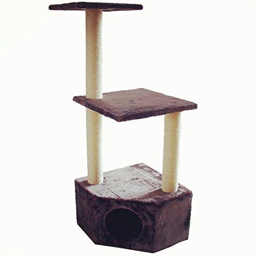 Drapak dla kota z miękkiego materiału, łatwy do czyszczenia i montażu (110 x 41 x 41 cm)