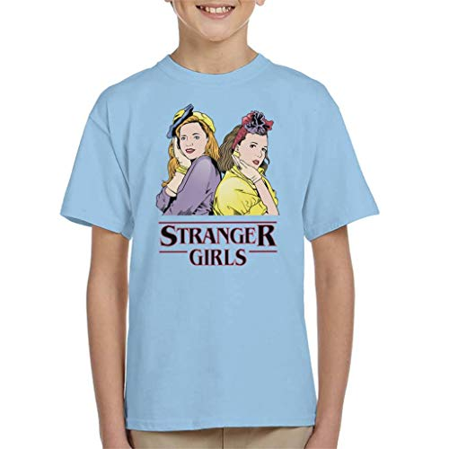 Cloud City 7 Stranger Things Girls Eleven and MAX Kid's T-Sh