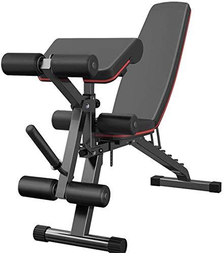 NOOYC Musculacion Interior, Bancos Ajustables músculos Plegable Formación de Fitness Silla de Peso Multifuncional Abdominales Siéntese Banco para el Cuerpo Completo de Ejercicios de Entrenamiento,-_-