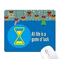 過去を変えることはできない ゲーム用スライドゴムのマウスパッドクリスマス
