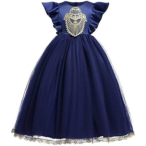 Vestido de las niñas Vestido de niña de flores de satén de...