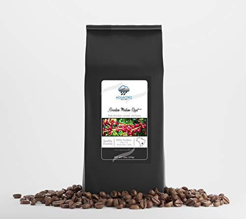 Specialty Brazilian Medium Roast whole bean coffee - 12 OZ. Roasted medium to deliver hints of dark...
