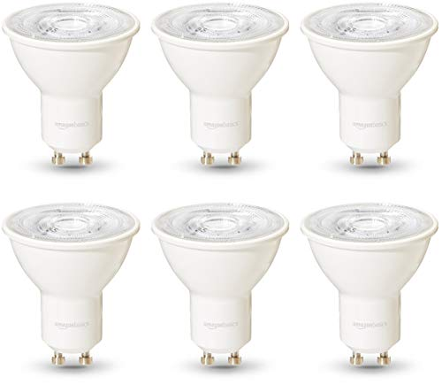 AmazonBasics Professional - LED-Leuchtmittel, GU10-Spot, entspricht 50-Watt-Birne, Kaltweiß, dimmbar, 6 Stück