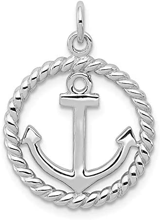 925 Sterling Silver Nautical Anchor Ship Wheel Mariners Pendant Charm Necklace Sea Shore Fine product image