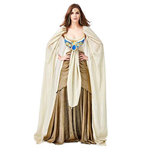 LOLANTA Cleopatra Costume per Le Donne Abito Queen Egiziano per Donna Costume da dea delle Signore di Halloween (Large)