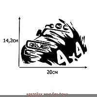自動車カー/バンパー/ウインドウビニルデカールステッカーステッカー (BLACK,20X14.2CM(7.9X5.6in))