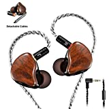 In Ear Monitors Headphone in Ear Earbuds Wired Earphone Dual Drivers Headphone with MMCX Detachable...