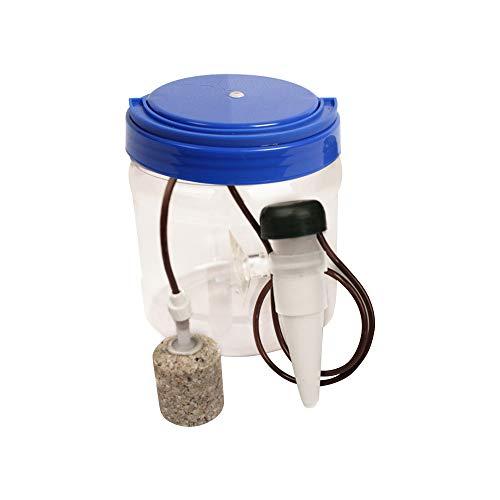 Reptiles Fuente para Beber, 1300 ml Filtro de Agua para Reptiles, Filtro de Agua Sistema de Goteo Humidificador dispensador para camaleón Lagarto Gecko