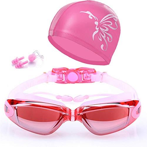 YUBIN de natación con cinturón Gafas graduadas Impermeables para Adultos Gafas de natación Profesionales HD Anti-empañamiento Gafas Ajustables 100% UV