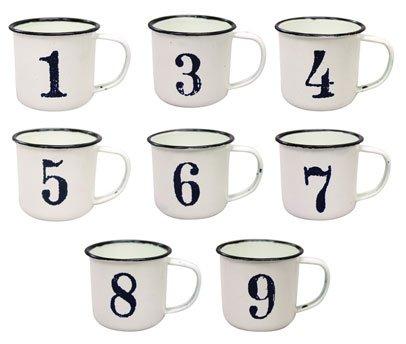 気取らないシンプルなマグでコーヒーブレイク♪ 【ナンバーマグカップ】1~9まで!アメリカン雑貨アメリカ雑貨 (3)