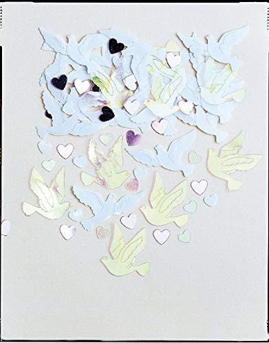 amscan International Confettis de Mariage brodés en Forme de colombes 14 g