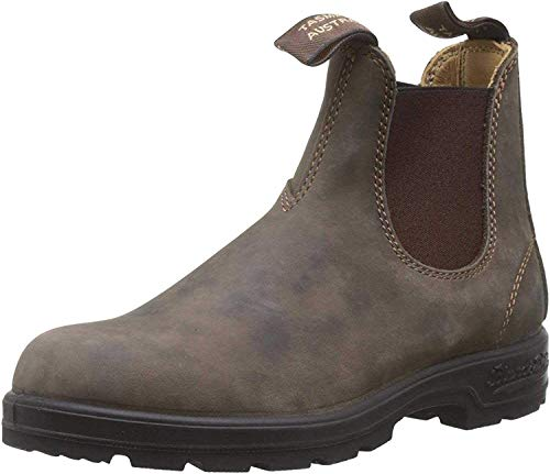 BLUNDSTONE Classic Comfort 585, Unisex-Erwachsene Chelsea Boots, Braun (Rustic Brown), 43.5 EU (9.5 UK)