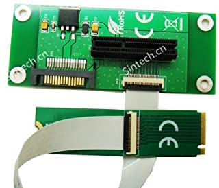 Sintech PCI-e 4X SSD As NGFF M.2 M-Key SSD Adapter with FPC Cable
