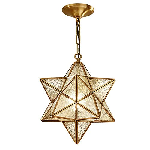 JIAJBG Nordic Glass Chandelier, Modern Led Chandelier Creative Five-Pointed Star Chandelier Wrought Iron Dining Table Chandelier Ceiling Lamp Cafe Restaurant Decoration Lamp gfhgf /