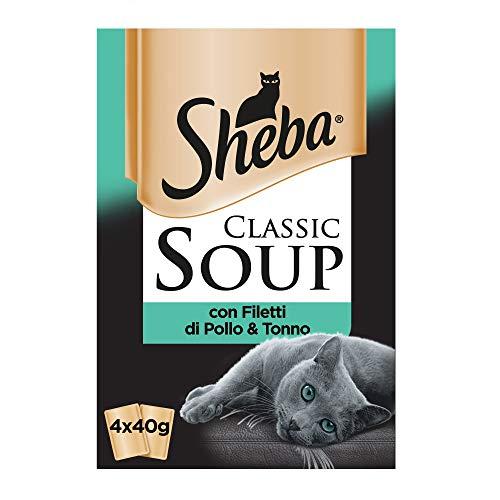 Sheba Classic Sopa con filetes de Pollo & atún–Paquete de 12Unidades