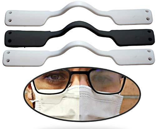 Brillen Antibeschlag Klammer für Atemschutzmasken (3 Stück) Verhindert ein Beschlagen der Brille, Wiederverwendbare Nasensteg-Klammer Beschlagfrei für alle Arten von Brillen und Mundschutz ohne Spray