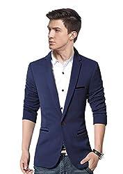 personalityplus Mens Cotton Slim Fit Blazer