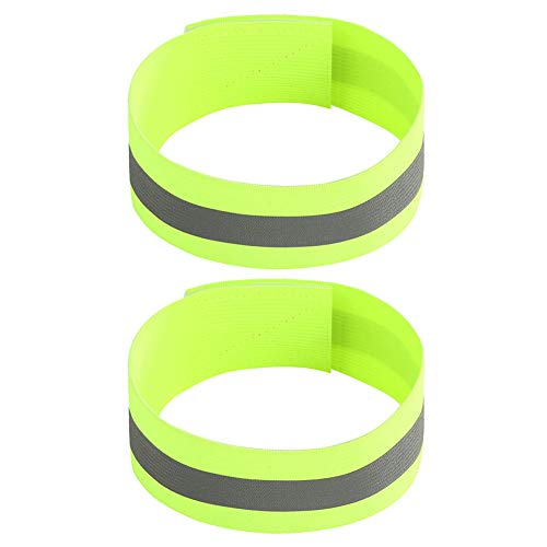 jingjing 2021 New Gift - 2x Night Reflective Bike Safety Armband Outdoor Sports Arm Strap (Green)