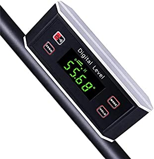 Electronic Inclinometer, Digital Protractor/Level/Angle Finder and Gauge Tools with V-Groove Magnetic Base and Backlight -...