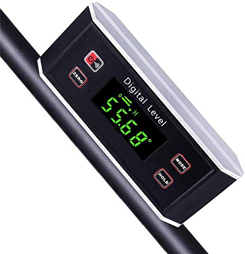 Electronic Inclinometer, Digital Protractor/Level/Angle Finder and Gauge Tools with V-Groove Magnetic Base and Backlight - Dust and Waterproof IP65 Precision Smart Level