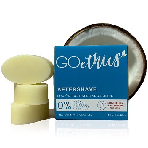 GOethics - After Shave Bálsamo Hidratante En Barra Con Aloe Vera Para Después del Afeitado, Pack De 3 Barras, 60 g